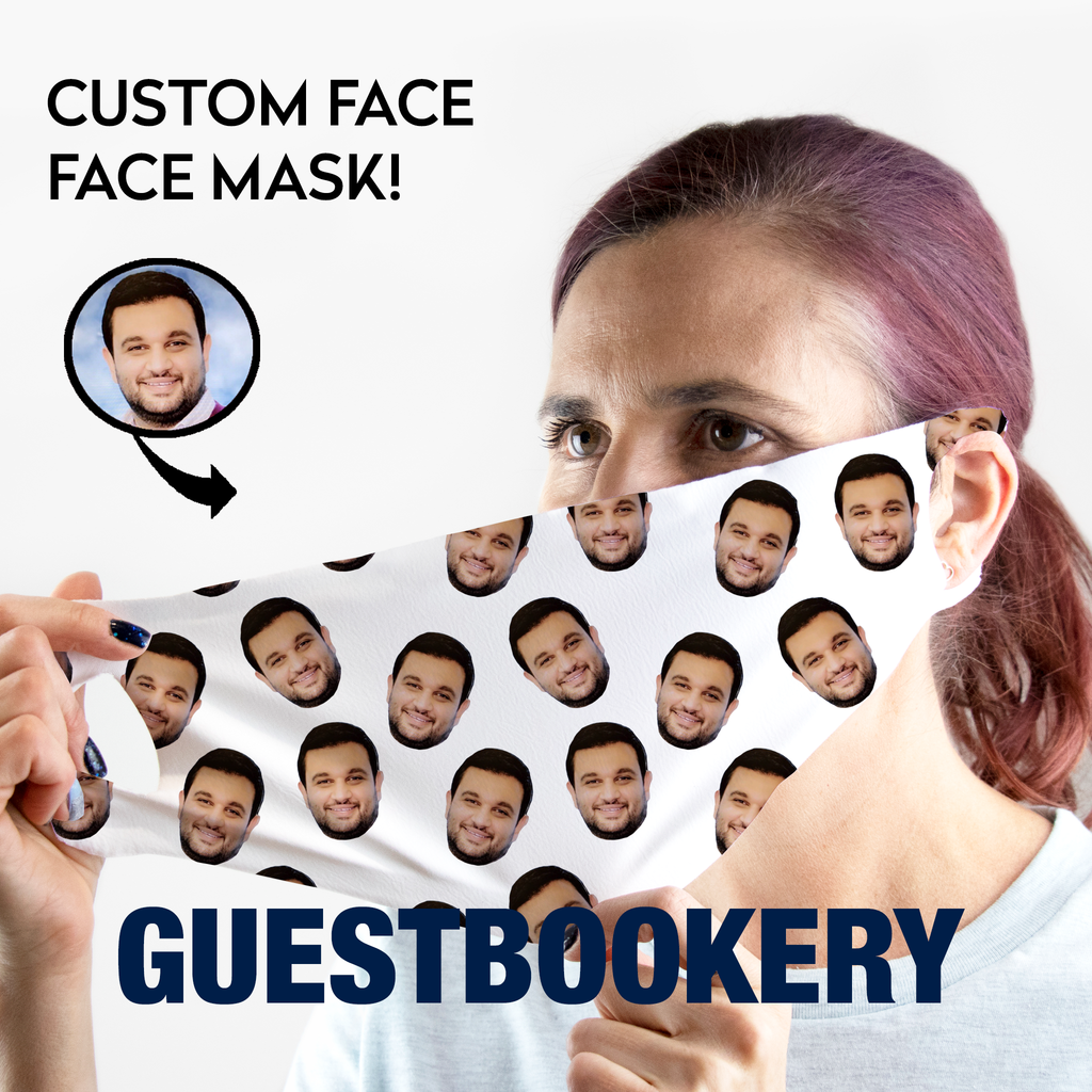 Custom Face WASHABLE Face Mask - Guestbookery