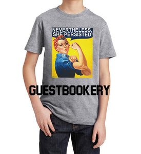 Nevertheless She Persisted Kid's T-shirt - Guestbookery