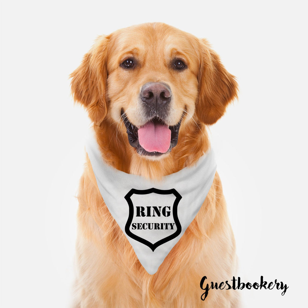 Ring Security Dog Bandana - Guestbookery