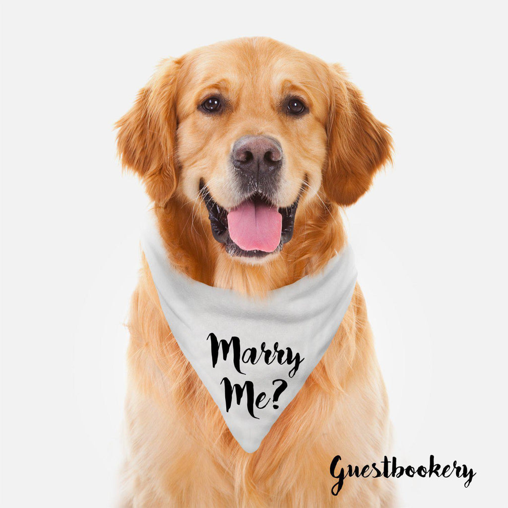 Marry Me Dog Bandana - Guestbookery