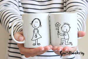 Bride And Groom Proposal Mugs - Guestbookery