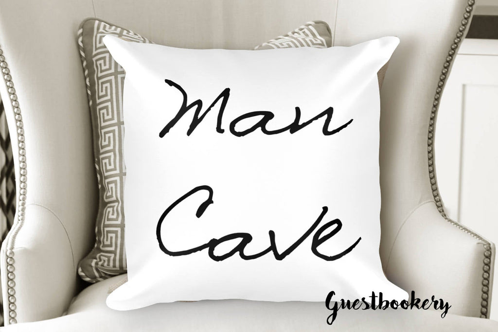 Man Cave Pillow - Guestbookery
