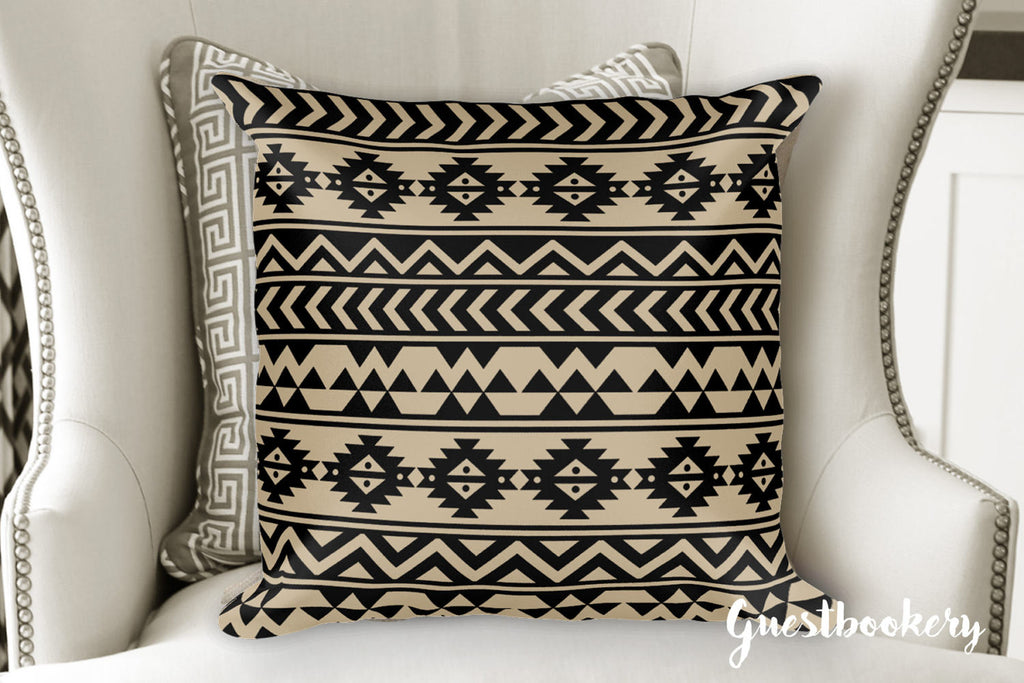 Aztec Print Pillow - Guestbookery