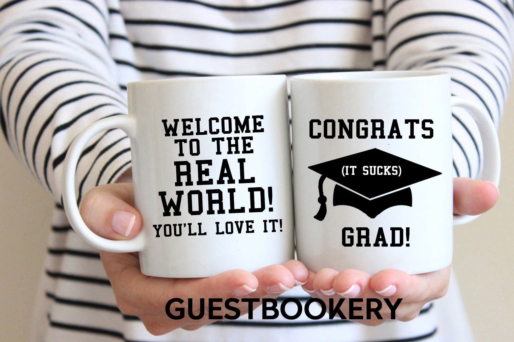 Welcome to the Real World Graduation Mug - Guestbookery