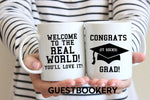 Load image into Gallery viewer, Welcome to the Real World Graduation Mug - Guestbookery