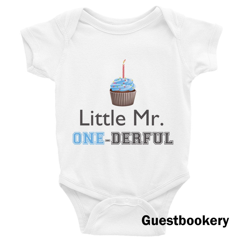 Little Mr Onederful Onesie - Guestbookery