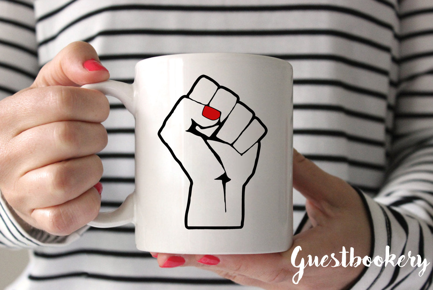 Feminist Fist Mug - Guestbookery