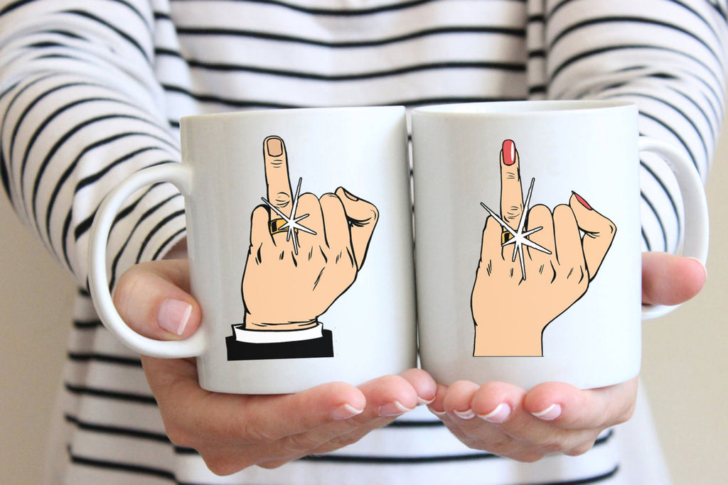 Ring Finger Mugs - Guestbookery
