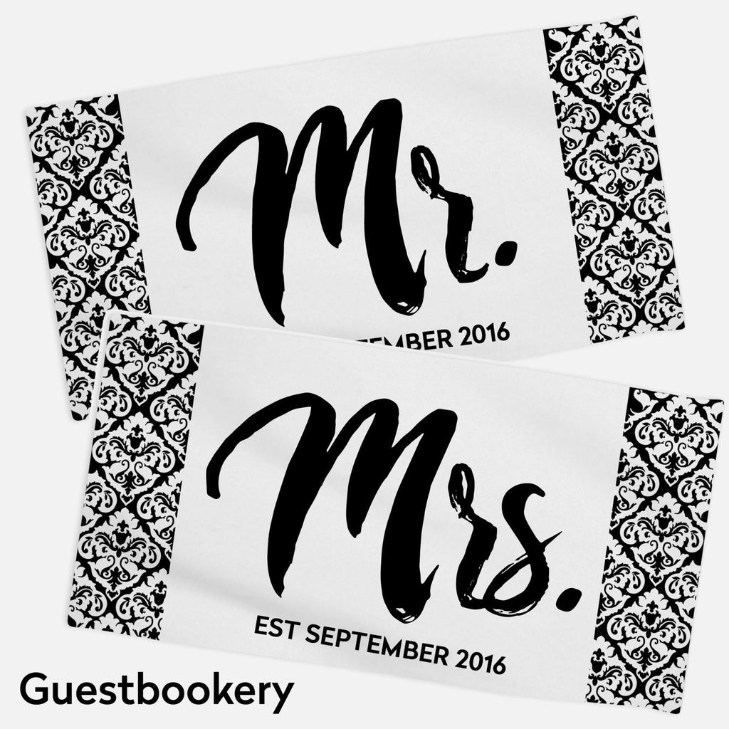 Custom Mr And Mrs Towels - Guestbookery