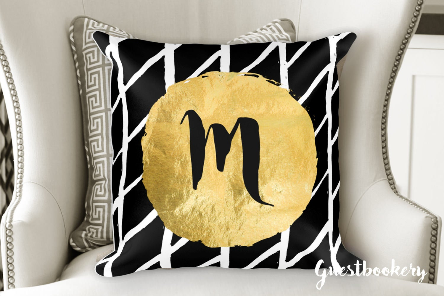 Custom Initial Pillow - Guestbookery