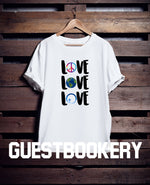 Load image into Gallery viewer, Love T-shirt - Guestbookery