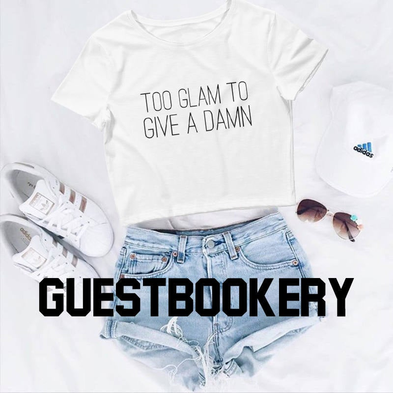 Too Glam to Give a Damn Crop Top - Guestbookery