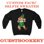 Load image into Gallery viewer, Custom Face Ugly Christmas Elf Sweatshirt - Guestbookery
