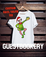 Load image into Gallery viewer, Custom Face Ugly Christmas Elf T-shirt - Guestbookery