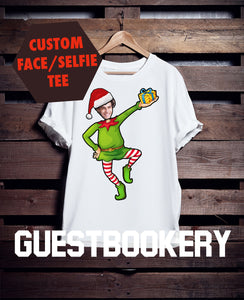 Custom Face Ugly Christmas Elf T-shirt - Guestbookery