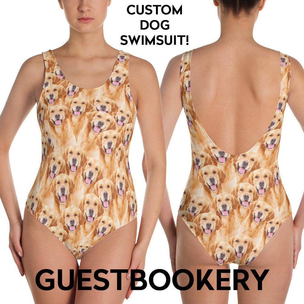 Custom Pet Faces Swimsuit - Guestbookery