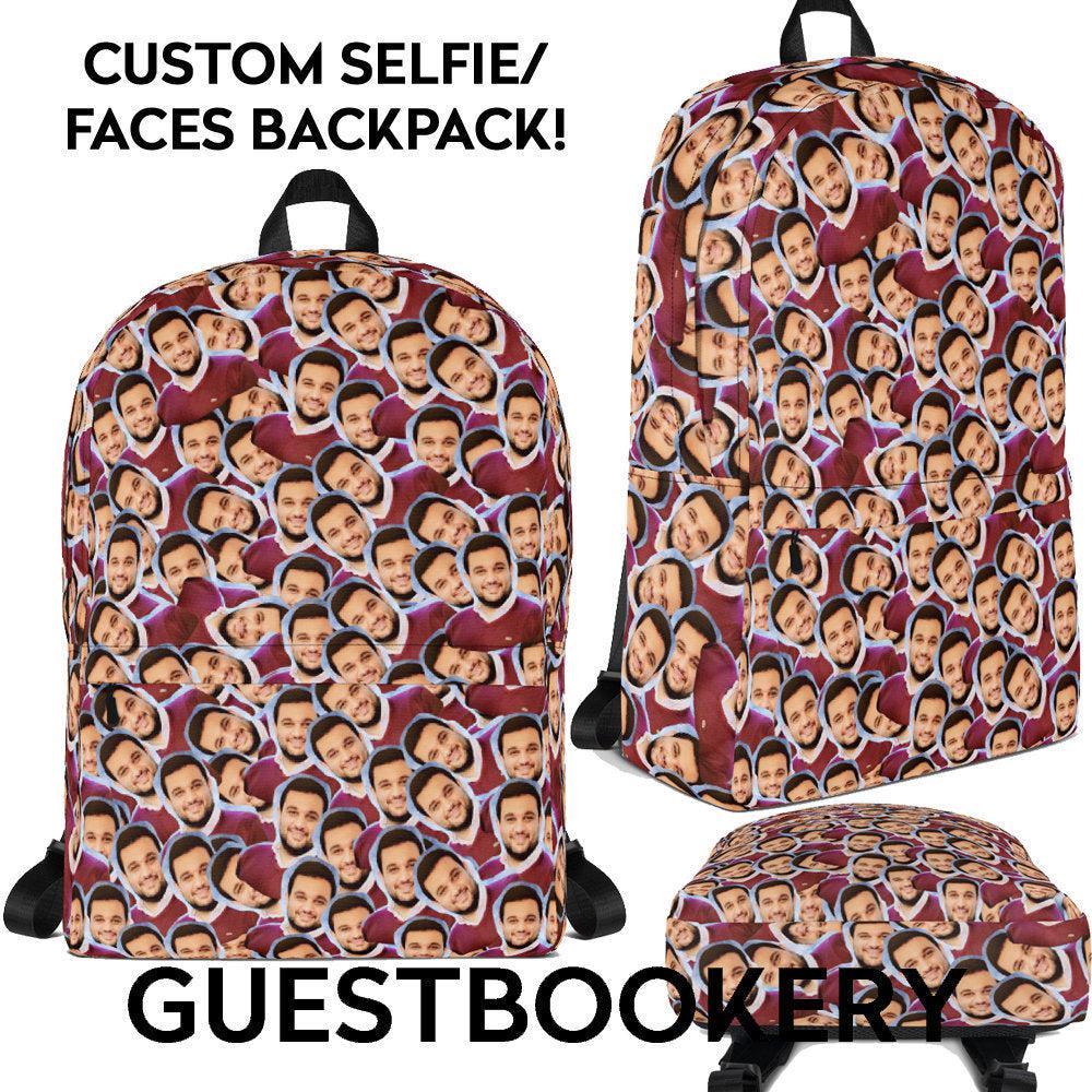 Custom Faces Backpack - Guestbookery