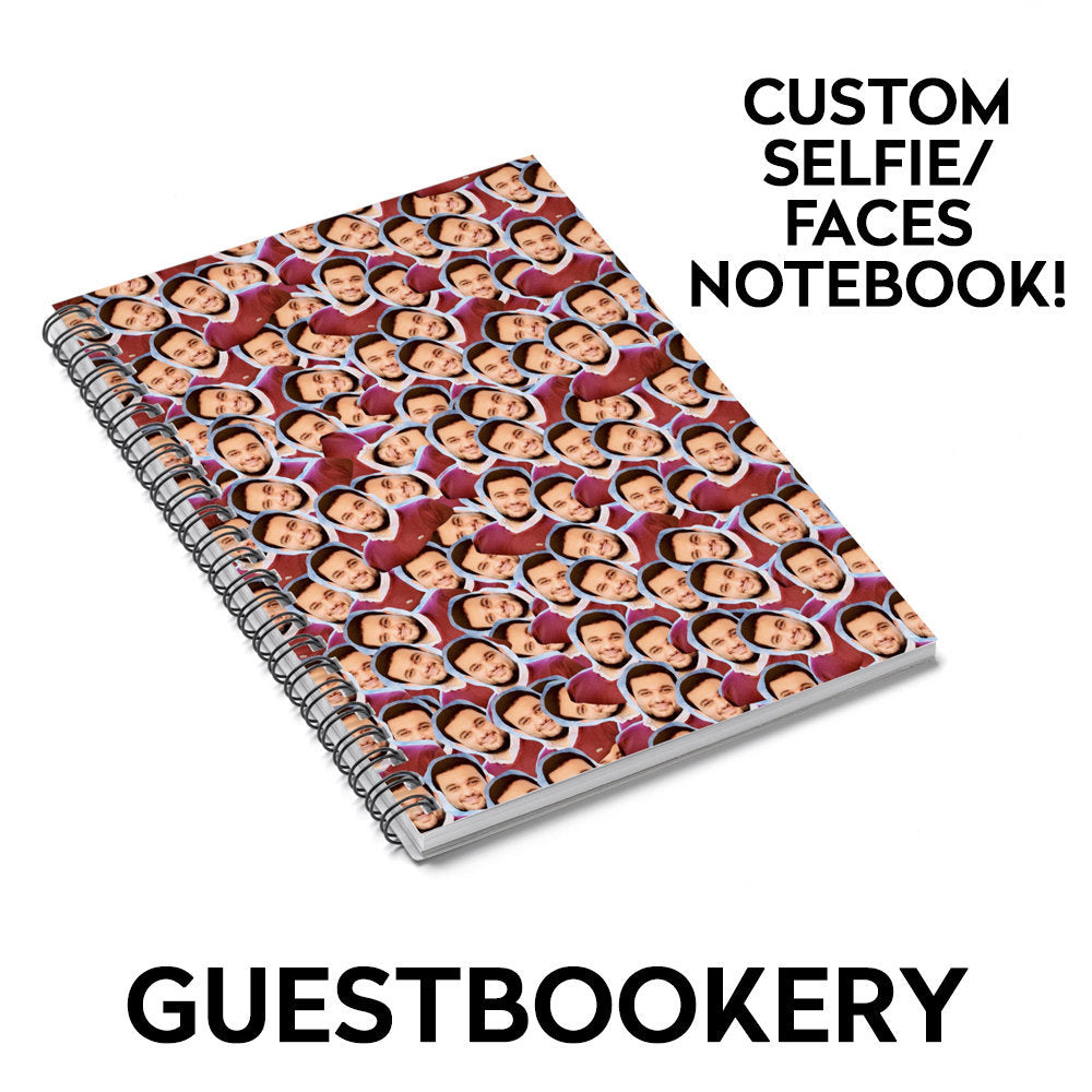Custom Faces Notebook - Guestbookery