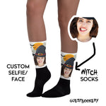 Load image into Gallery viewer, Custom Face Witch Socks - Guestbookery