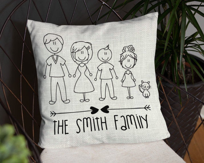 Custom Family Character Pillow - Guestbookery