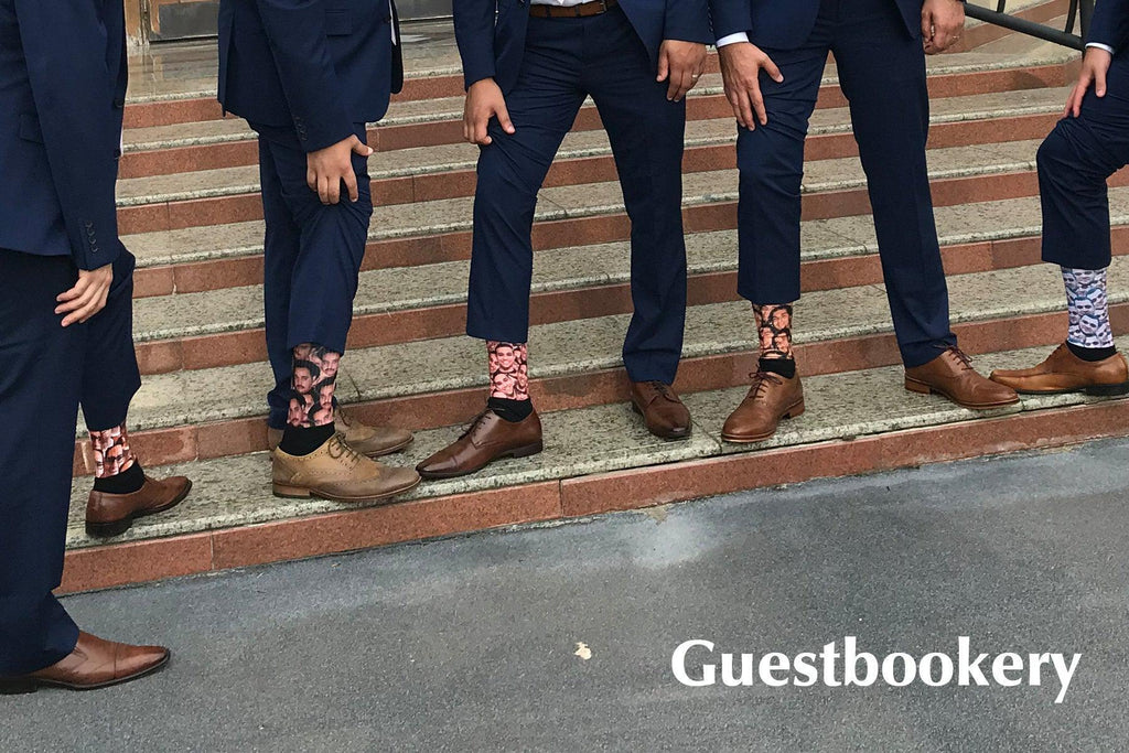 Custom Faces Groomsmen Socks - Guestbookery