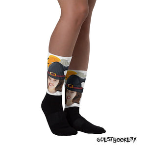 Custom Face Witch Socks - Guestbookery