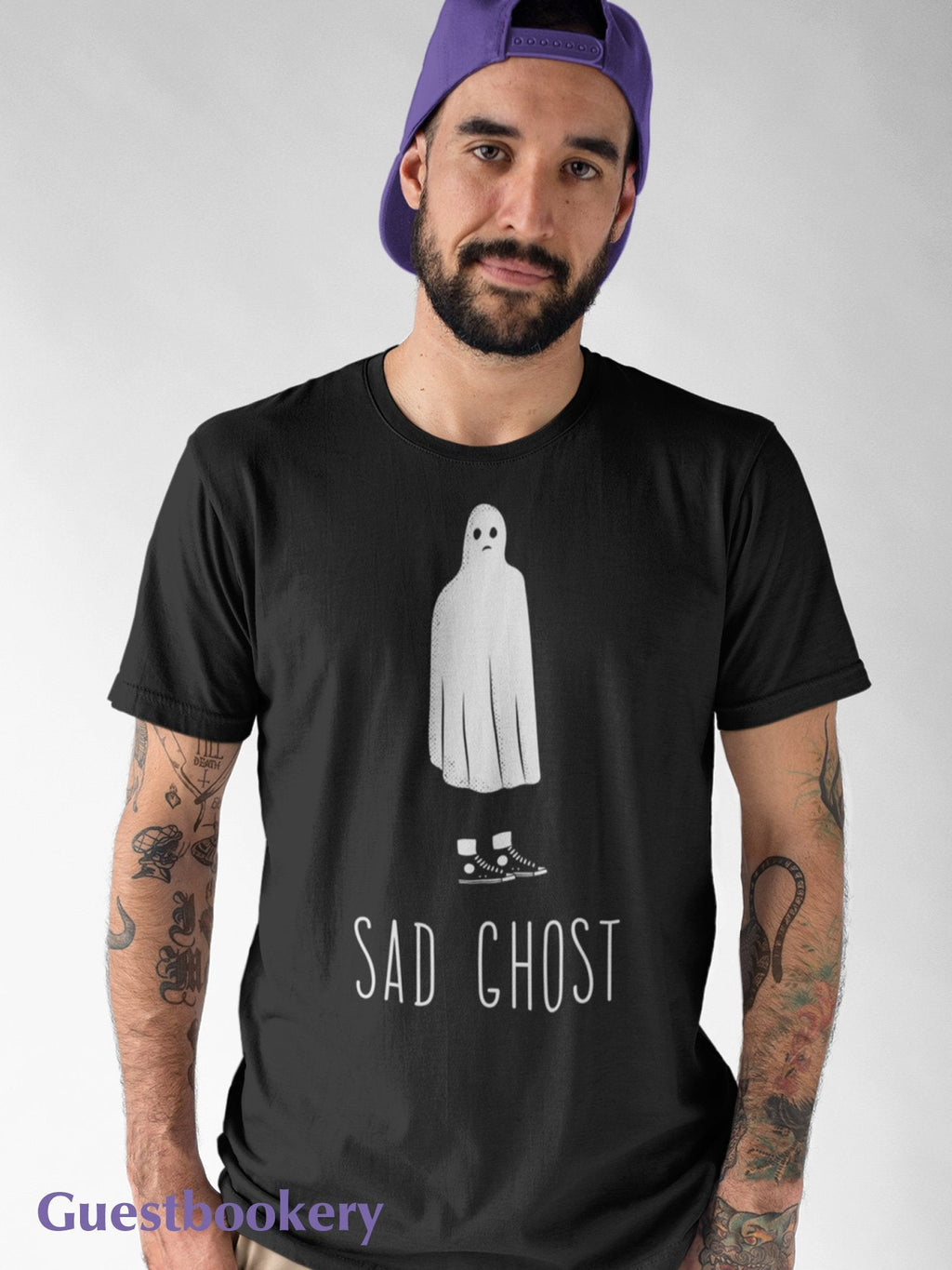 Sad Ghost T-shirt - Guestbookery