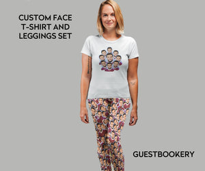 Custom Faces Leggings and Shirt SET