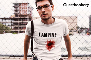 I Am Fine Halloween T-shirt - Guestbookery