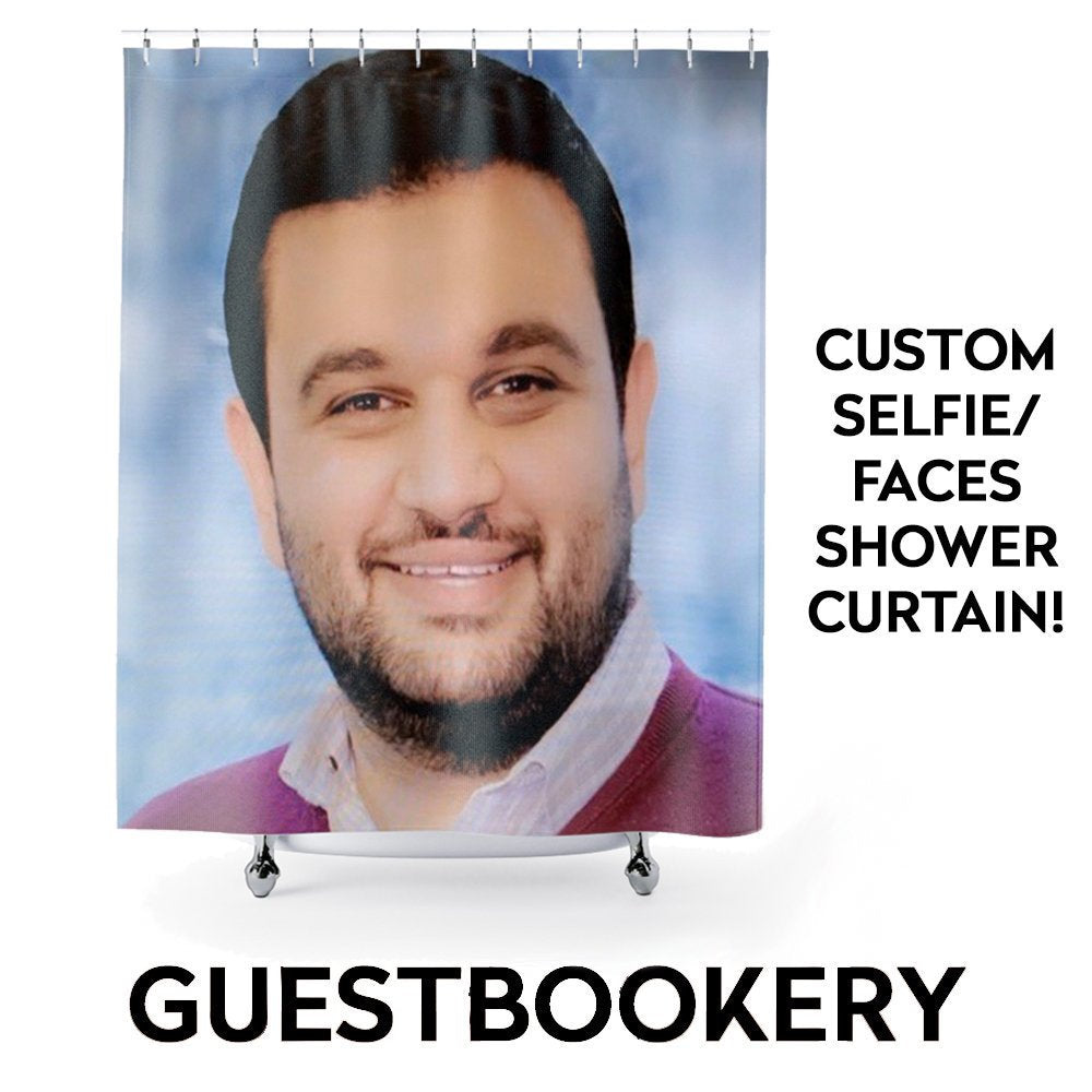 Custom Face Shower Curtain - Guestbookery