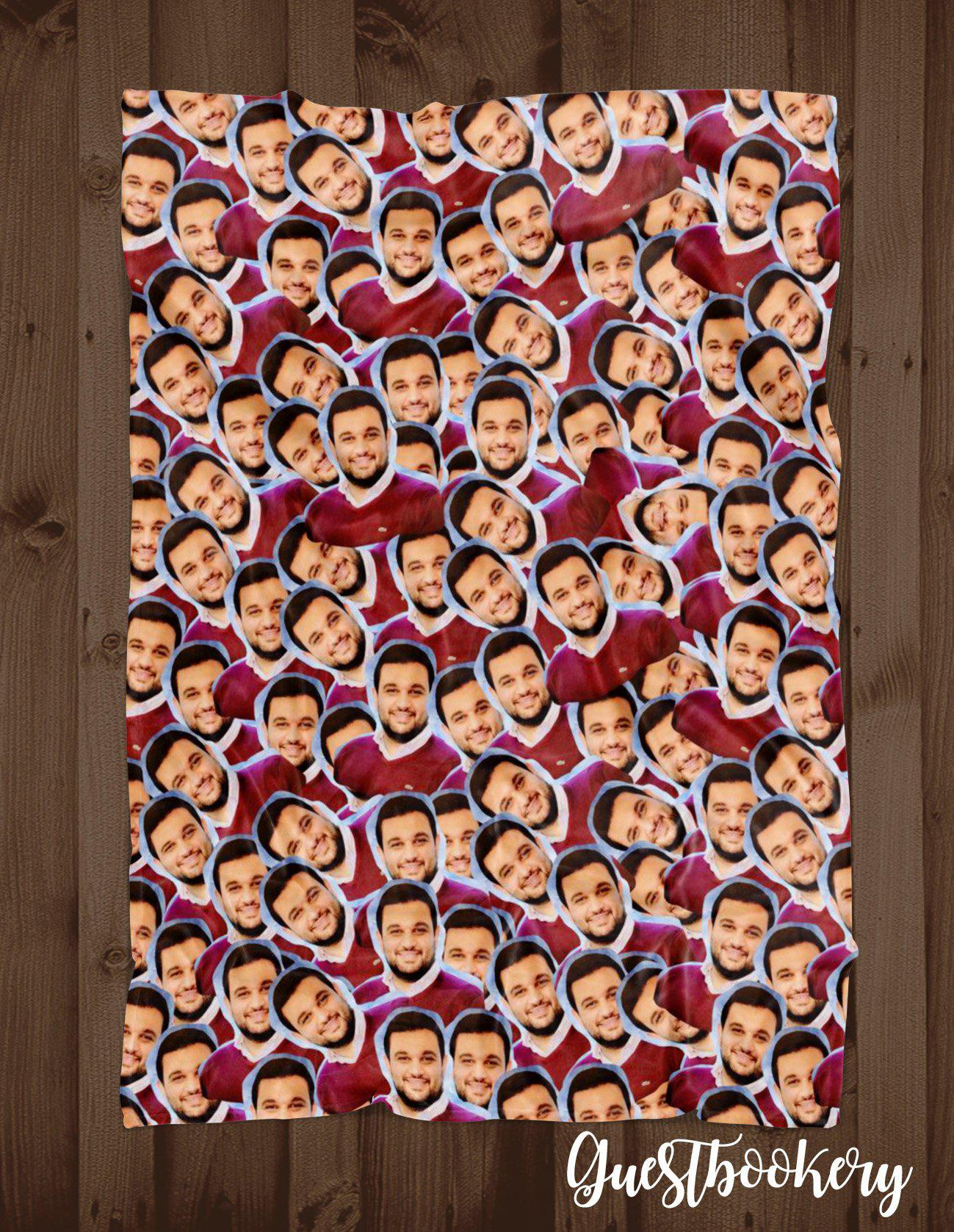 Custom Faces Blanket - Guestbookery