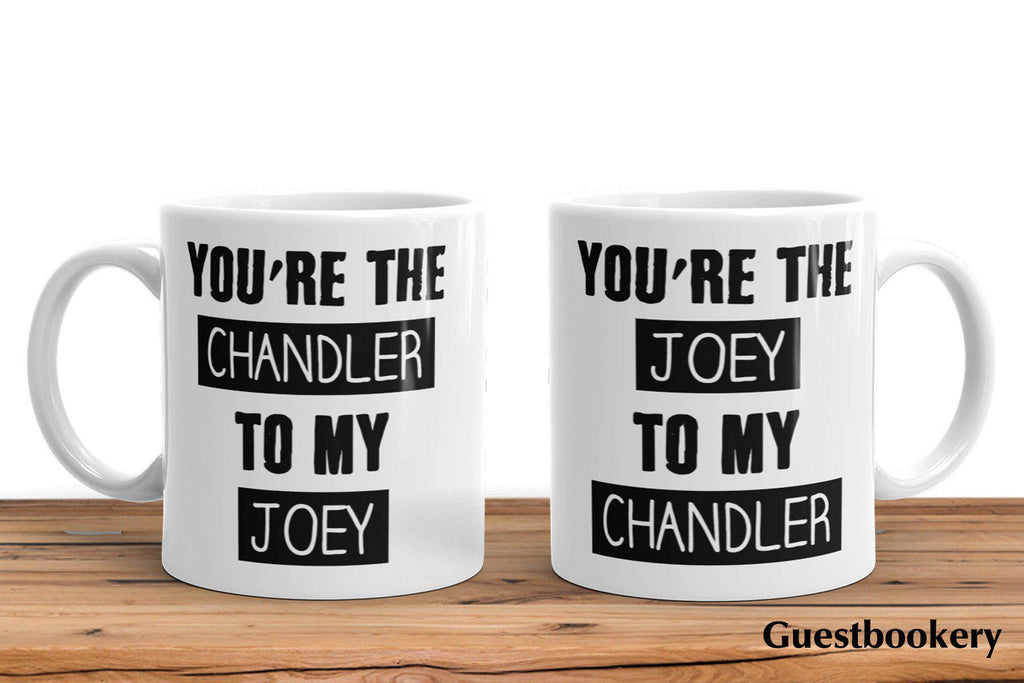 Joey and Chandler Mugs - Guestbookery