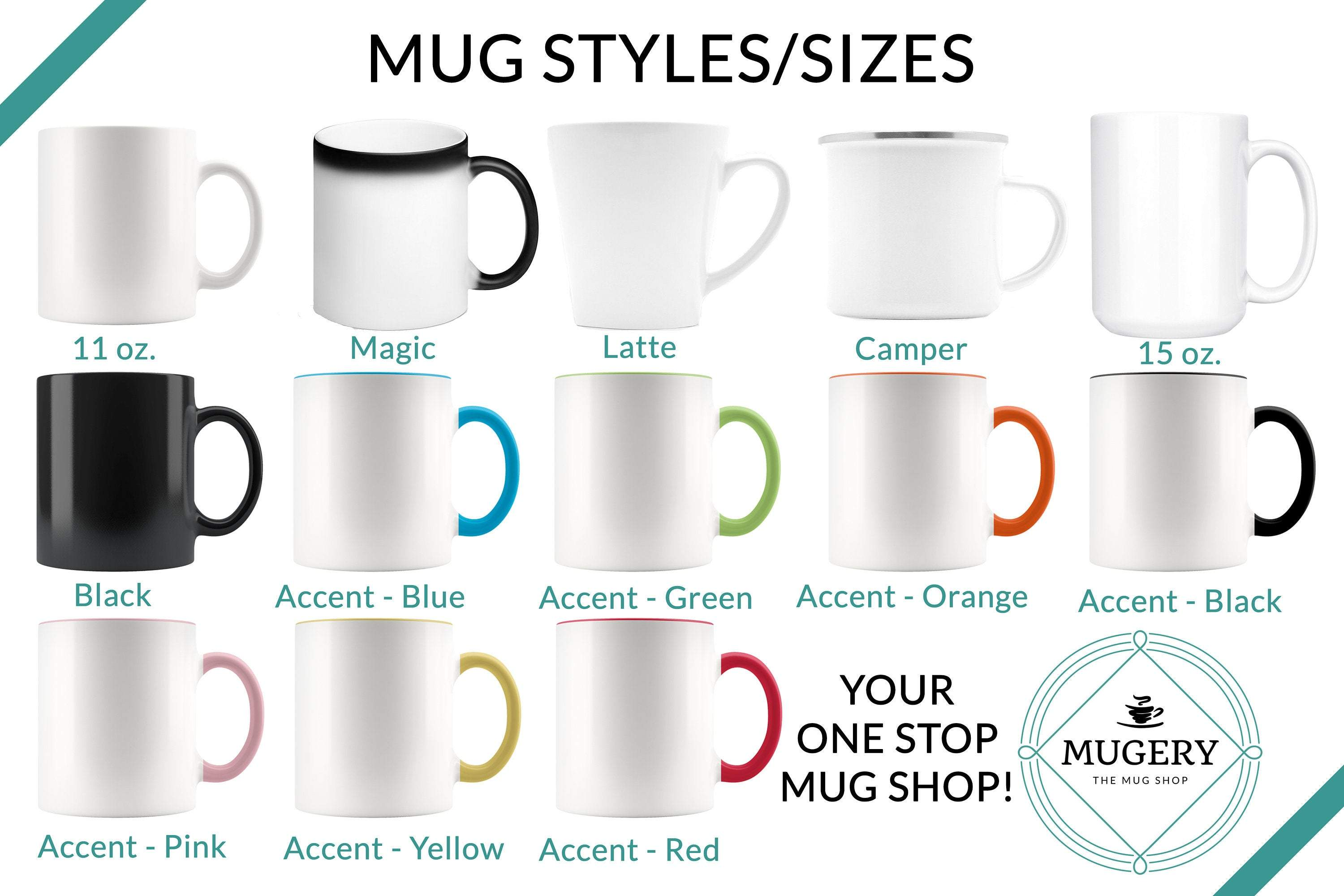 Guestbookery mug options