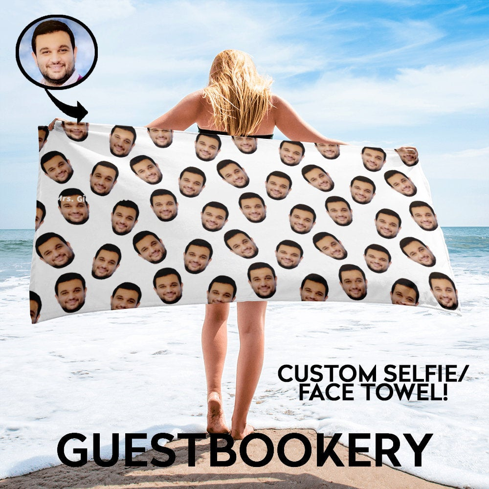 Custom Faces Towel - Guestbookery
