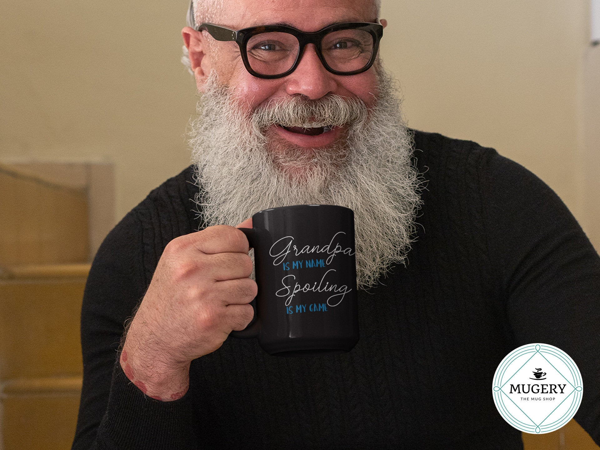 Grandpa is My Name Spoiling is My Game Mug - Guestbookery