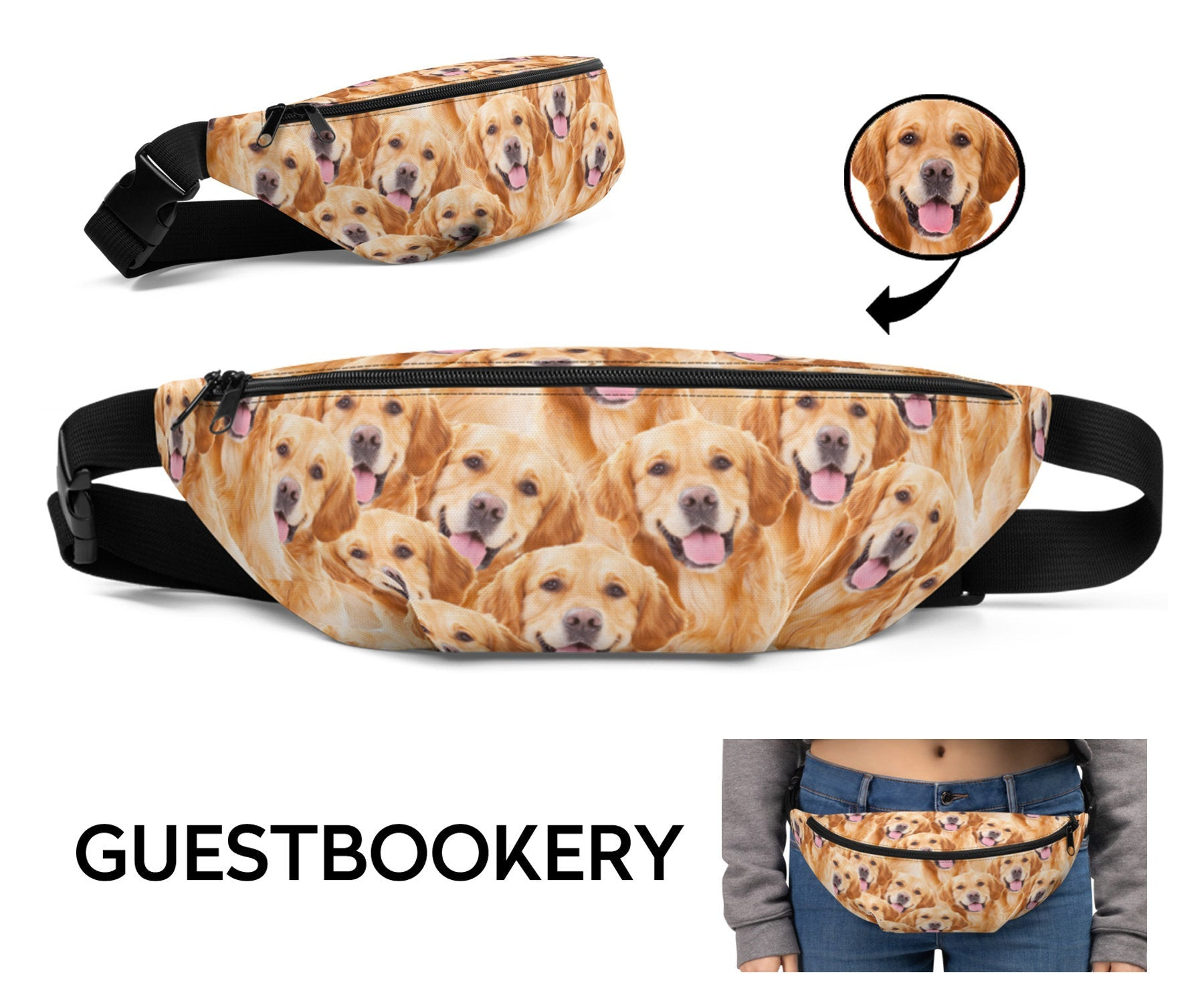 Custom Pet Face Fanny Pack - Guestbookery