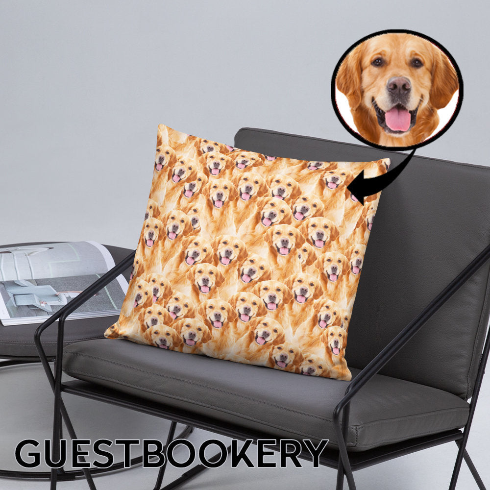 Custom Pet Faces Pillow - Guestbookery