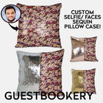 Load image into Gallery viewer, Custom Faces Sequin Pillow - Guestbookery
