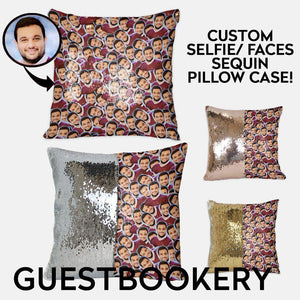 Custom Faces Sequin Pillow