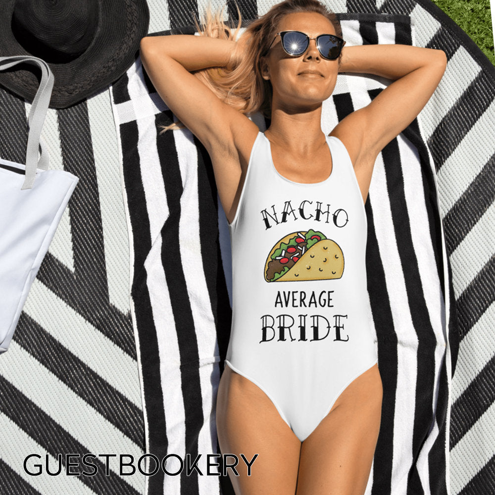 Nacho Average Bride Swimsuit - Guestbookery