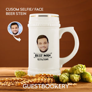Custom Face Beer Stein - Guestbookery