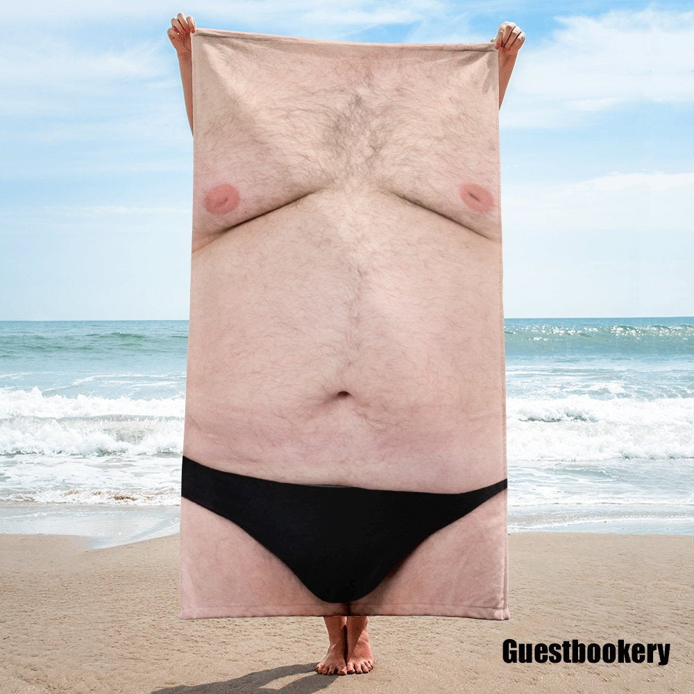 Hairy Chest Towel - Guestbookery