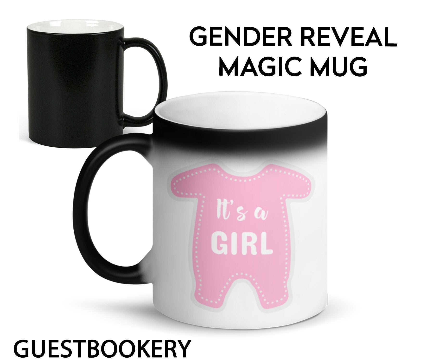 GENDER REVEAL Magic Mug - Girl - Guestbookery