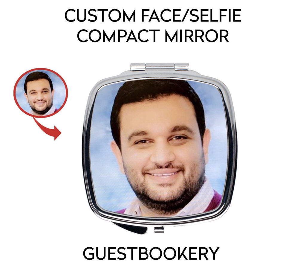 Custom Face Compact Mirror - Guestbookery