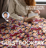 Load image into Gallery viewer, Custom Faces Blanket - Guestbookery
