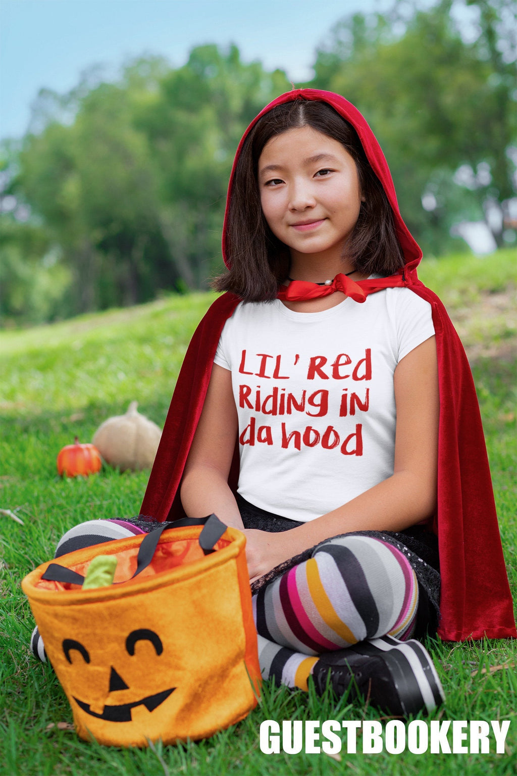 Lil Red Riding in Da Hood Kid's T-shirt - Guestbookery