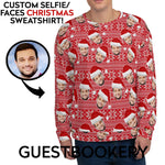 Load image into Gallery viewer, Custom Faces Ugly Christmas Sweatshirt - Guestbookery
