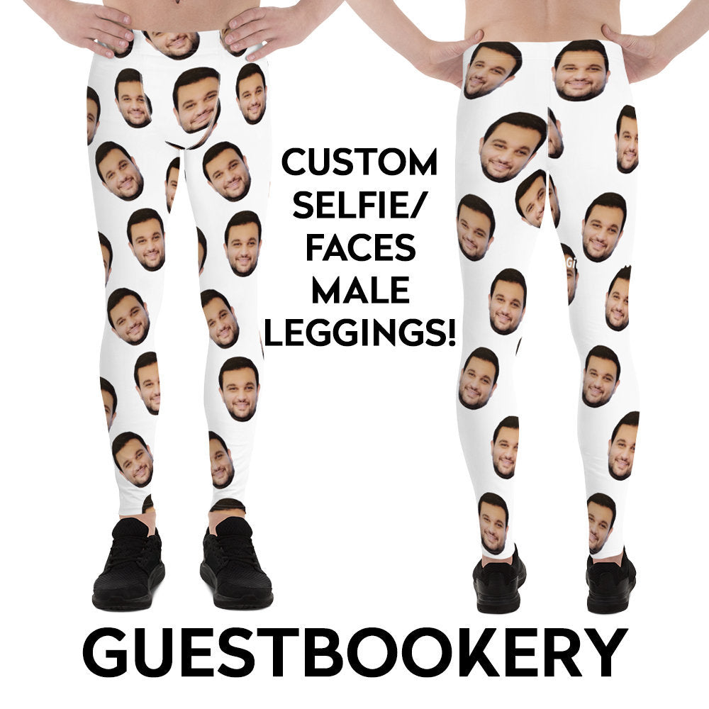 Custom Faces Male Leggings - Guestbookery