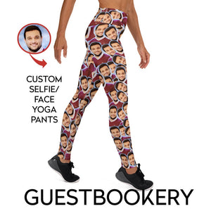 Custom Faces Yoga Pants - Guestbookery