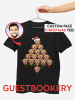 Load image into Gallery viewer, Custom Pet Ugly Christmas T-shirt - Christmas Tree - Guestbookery
